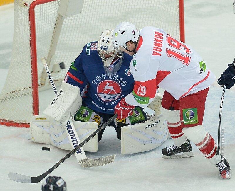«Торпедо» vs «Спартак» 3:4 ОТ чемпионат КХЛ 2013-2014 (Фото)