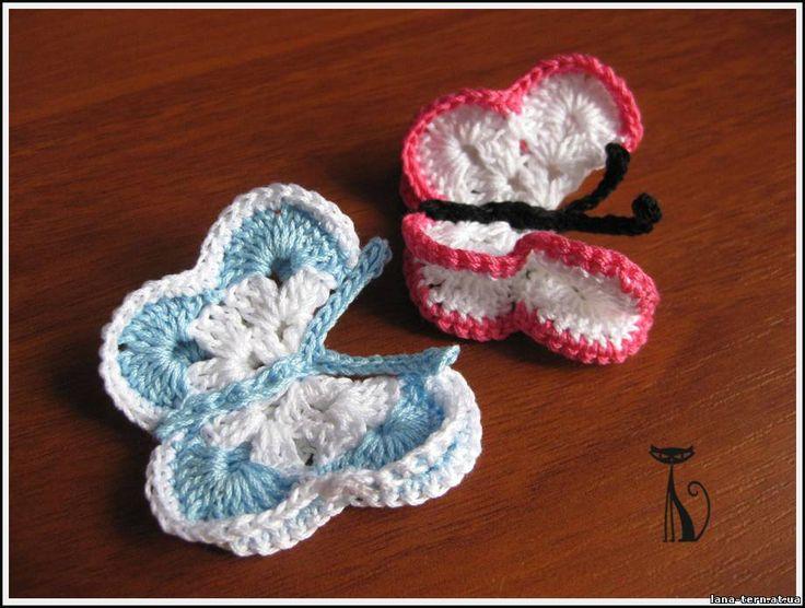 вязание бабочки | knitting butterflies