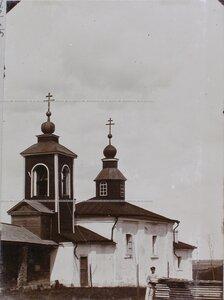 Вид церкви в монастыре Бориса и Глеба.