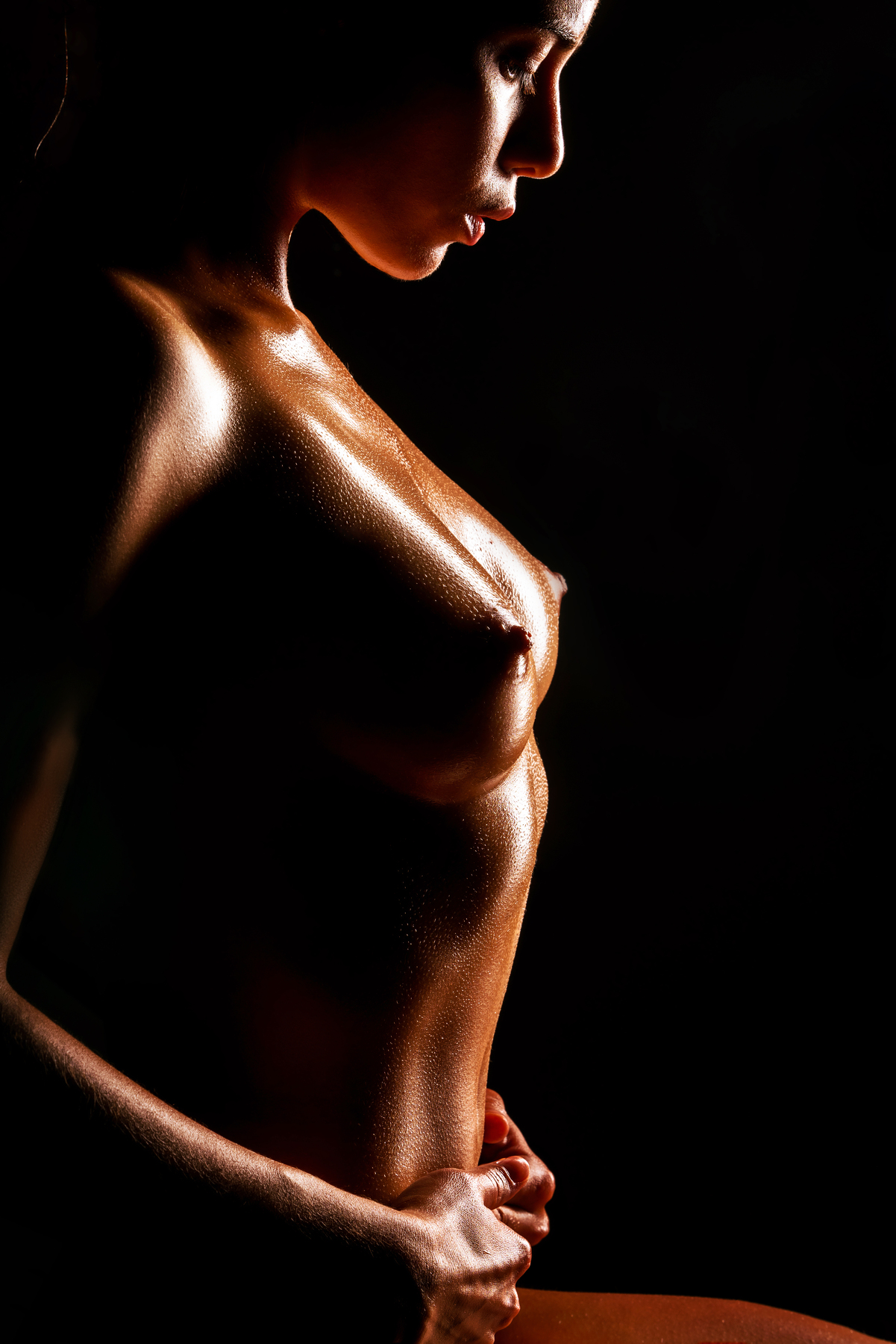 Dark nude portrait
