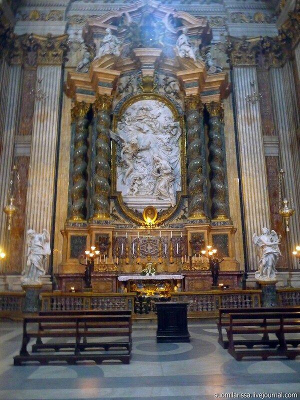 Roma. Барочная церковь ордена иезуитов - Sant'Ignazio di Loyola a Campo Marzio