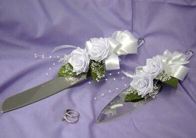 Украшение свадебных приборов