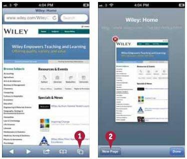 Safari уменьшит текущую страницу и откроет кнопку для ее закрытия