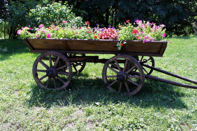 Воз с цветами