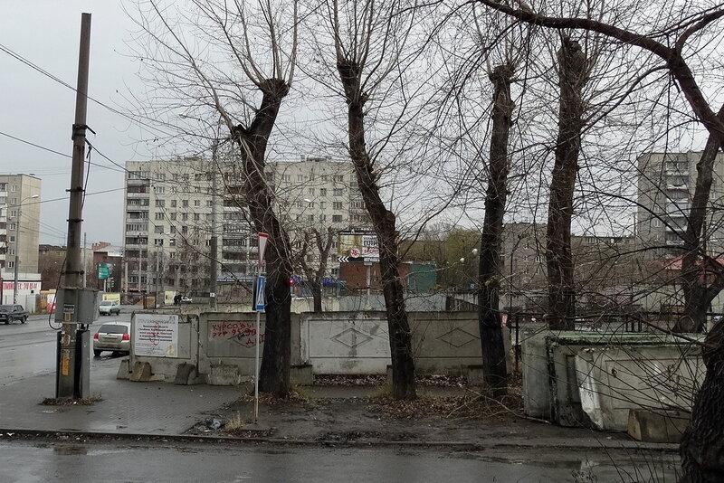 Заборы на ул. Карла Маркса
