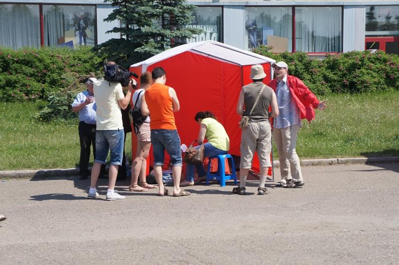 Пикет в Томске 22 июня 12