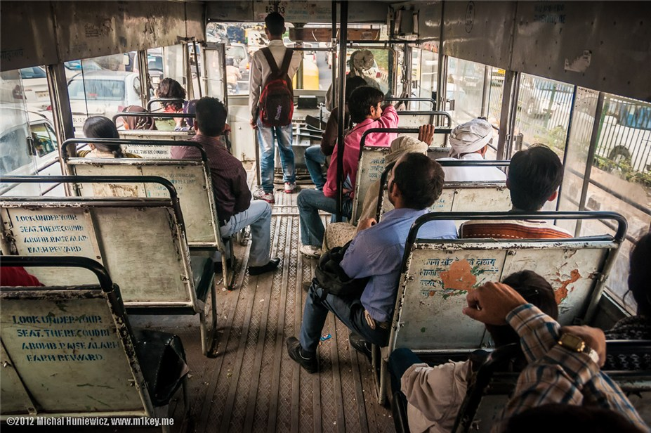 Поездка в автобусе - путешествие по Индии / India by Michal Huniewicz