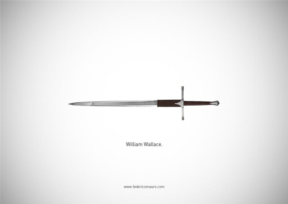 Знаменитые клинки, ножи и тесаки культовых персонажей / Famous Blades by Federico Mauro - William Wallace