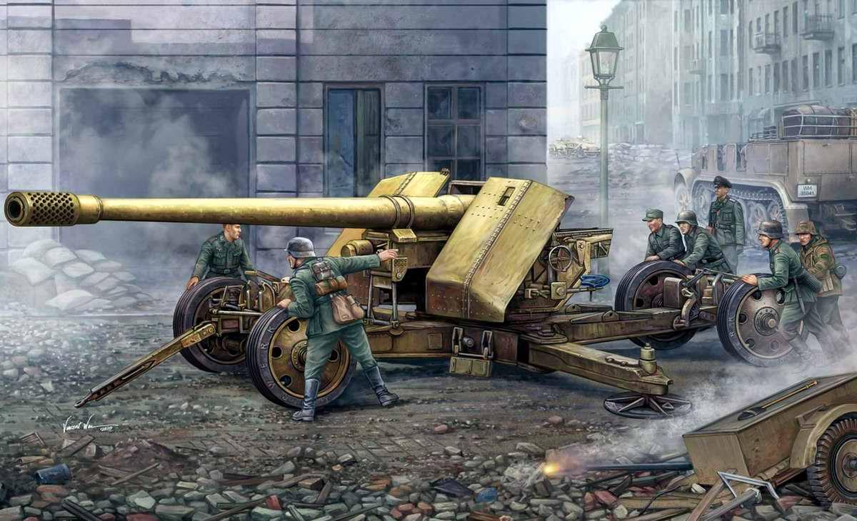 Немецкая тяжелая противотанковая пушка PaK 44 (Vincent Wai)