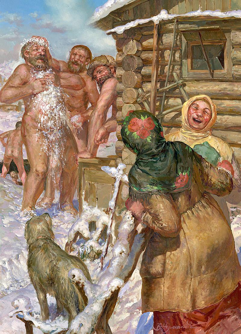 Русские девушки в бане моются 6 фотография
