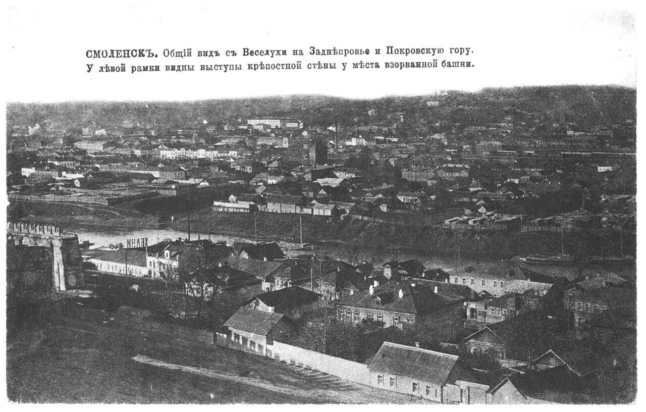Общий вид с Веселухи на Заднепровье и Покровскую гору