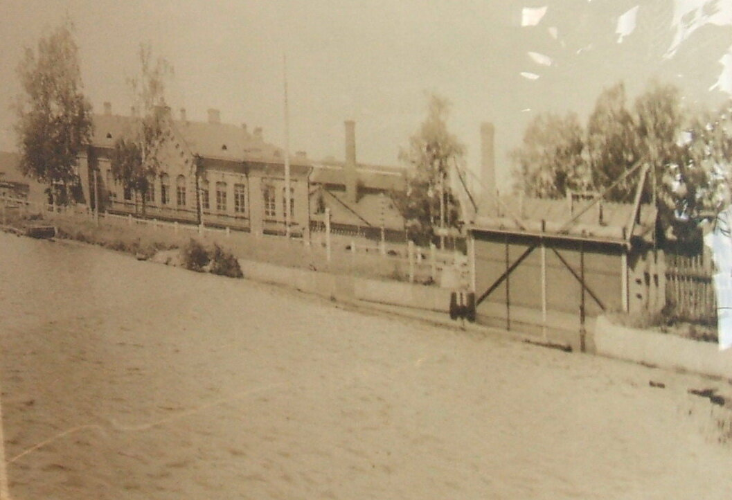 Оружейный завод Первый вид на плотину ГЭС начала 1900-х