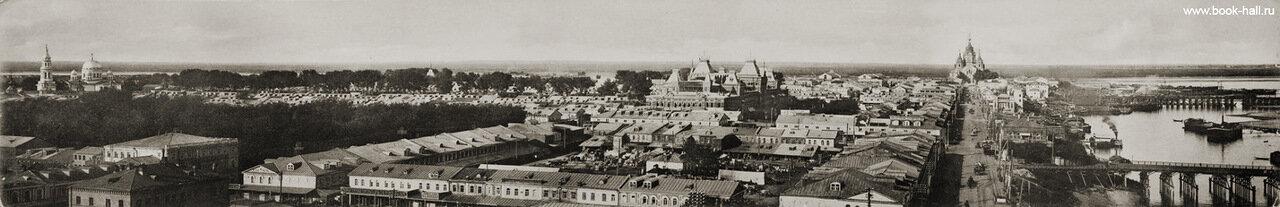 Панорама старого Канавина и Нижегородской ярмарки