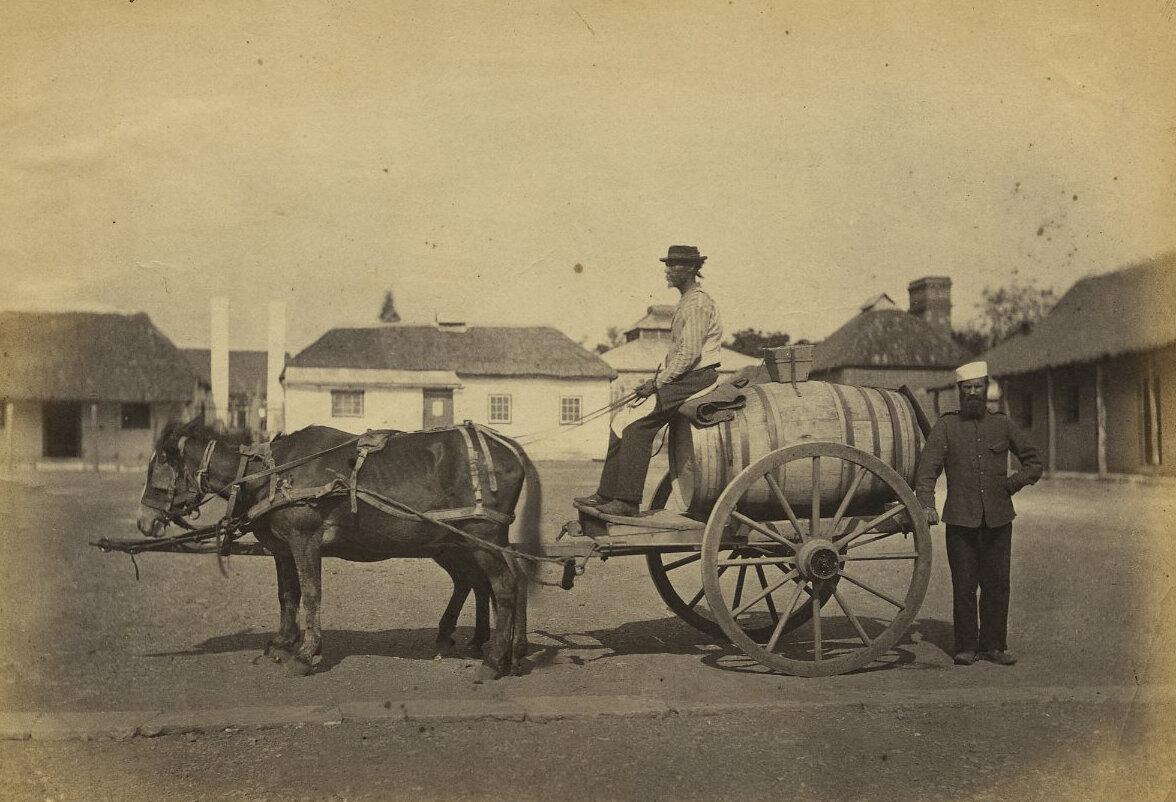 Общественный водовоз. Кейптаун, Южная Африка,1870-х годов