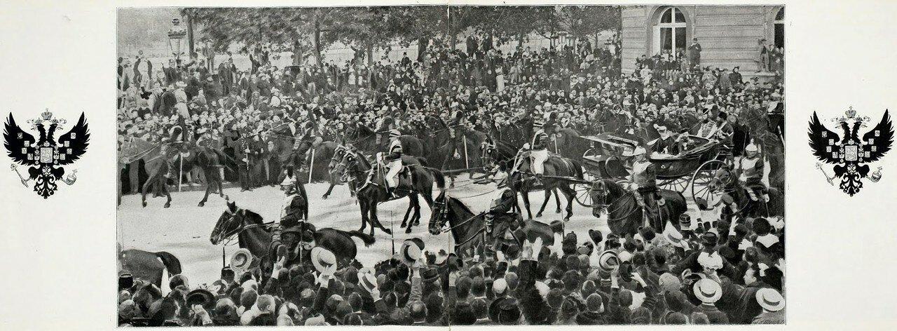 Панорама въезда императорской четы в Париж (фрагмент)