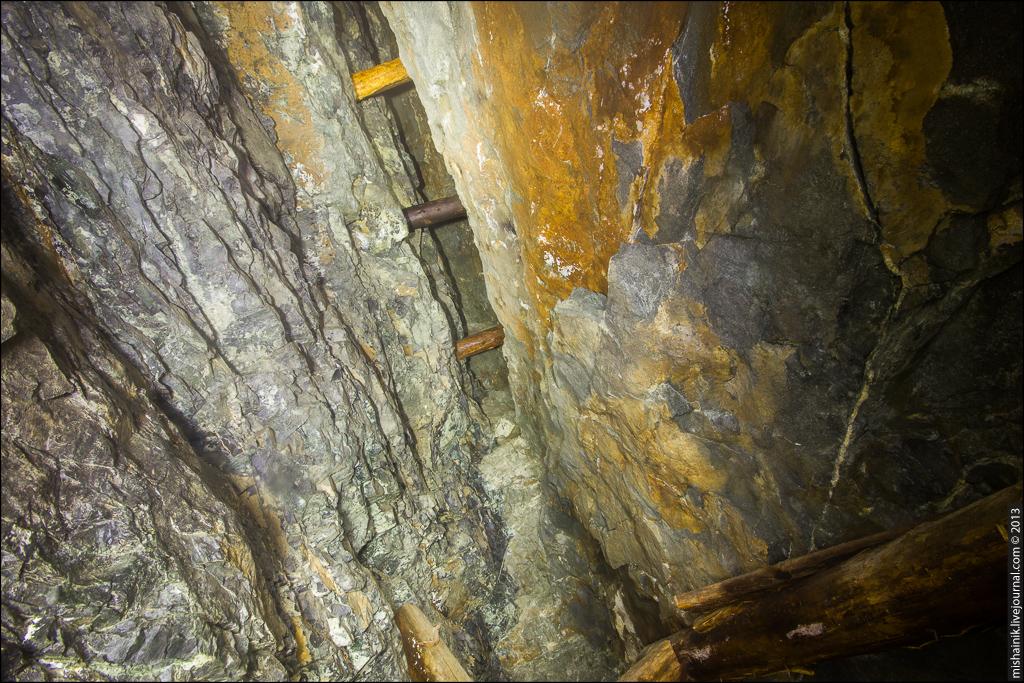 Заброшенная шахта на рудное золото