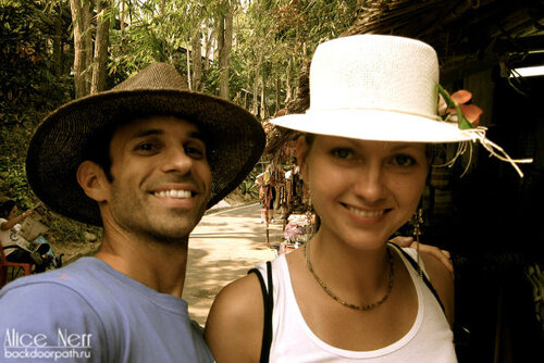 Таня со своим американским другом