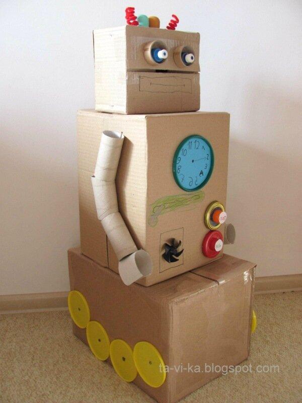 Роботы из картона своими руками