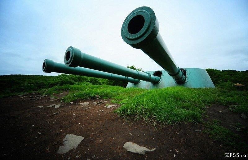 Орудие  Ворошиловской батареи (№981), остров Русский