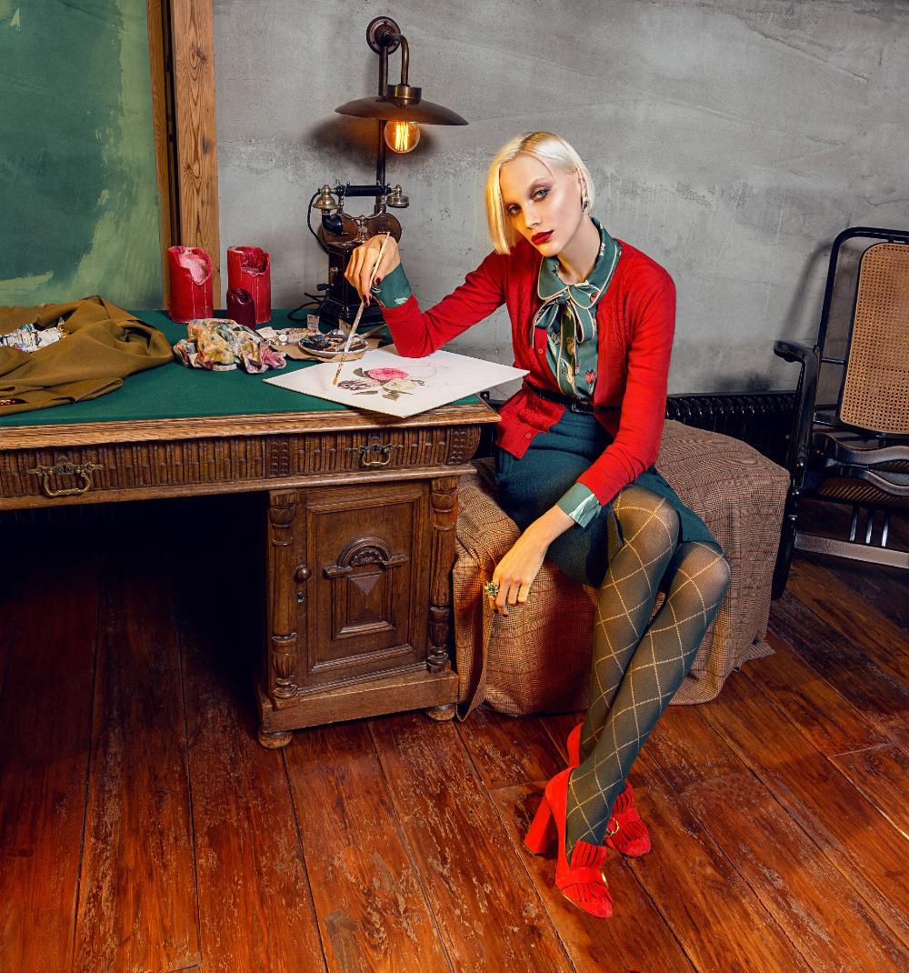 Рекламная кампания для Alena Goretskaya зима 2017 / фотограф Андрей Яковлев