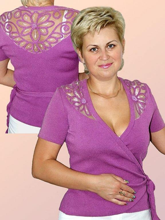 Рубашки Блузки Вязанные Крючком