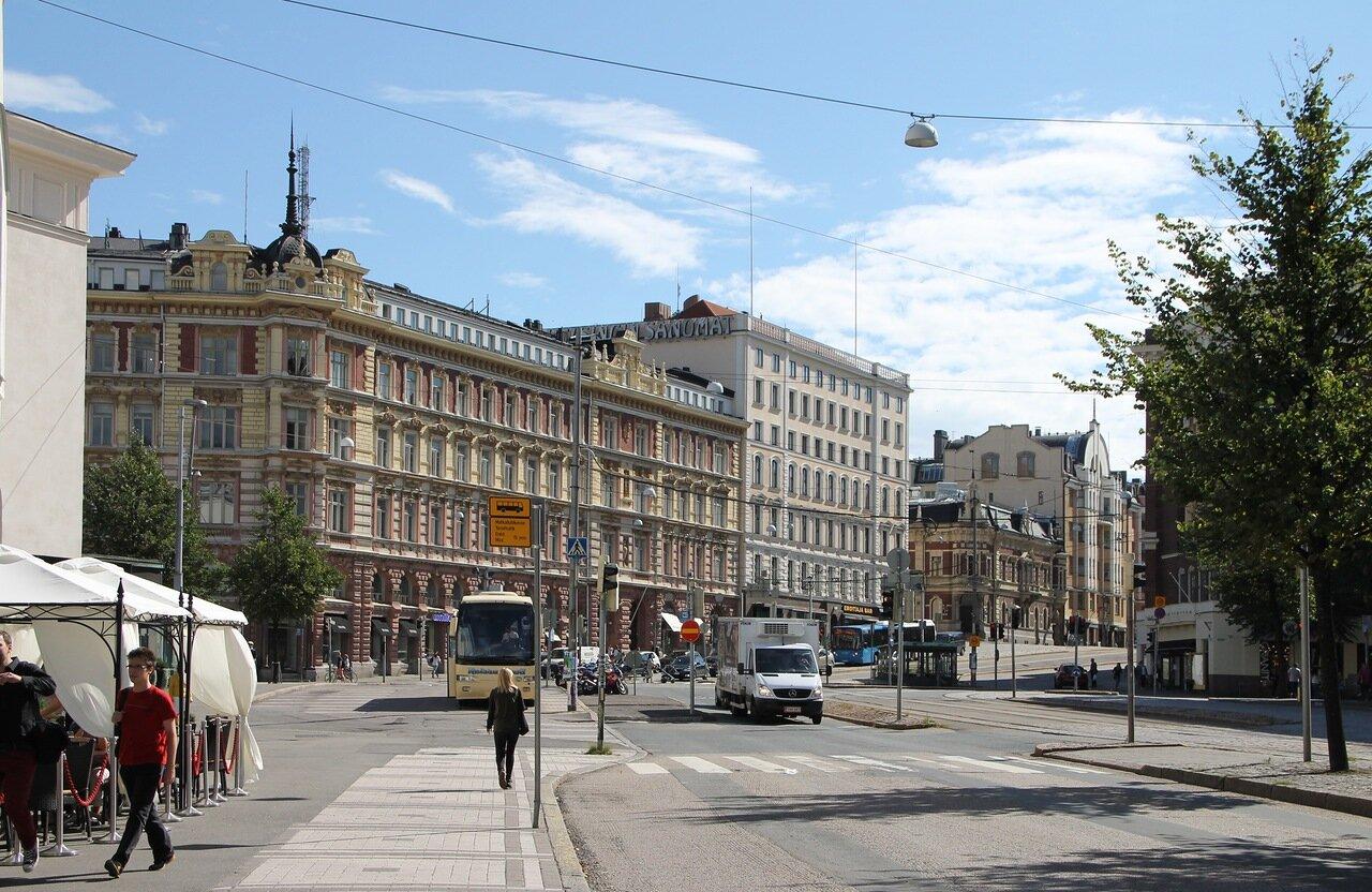 Helsinki. Mannerheim avenue (Mannerheimintie)
