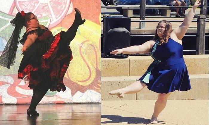 Ломая стереотипы: 15-летняя девушка с лишним весом мастерски исполняет балетные па (6 фото)