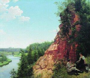 Алексей Васильевич Тыранов 1808 - 1859. Вид на реке Тосно близ села Никольского. 1827