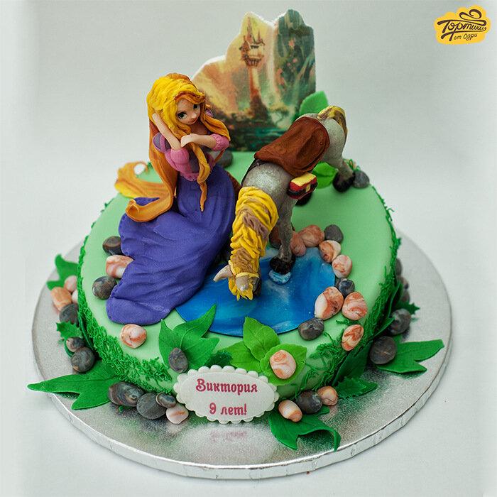 Торт с рапунцель безе - 071a