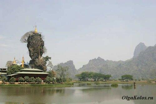 Буддистский монастырь рядом с Хпа-Ан