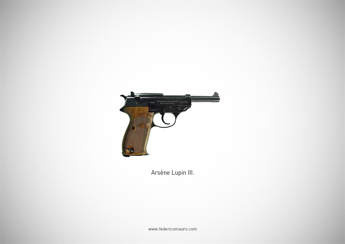 Знаменитые пушки - оружие культовых персонажей / Famous Guns by Federico Mauro - Arsene Lupin III
