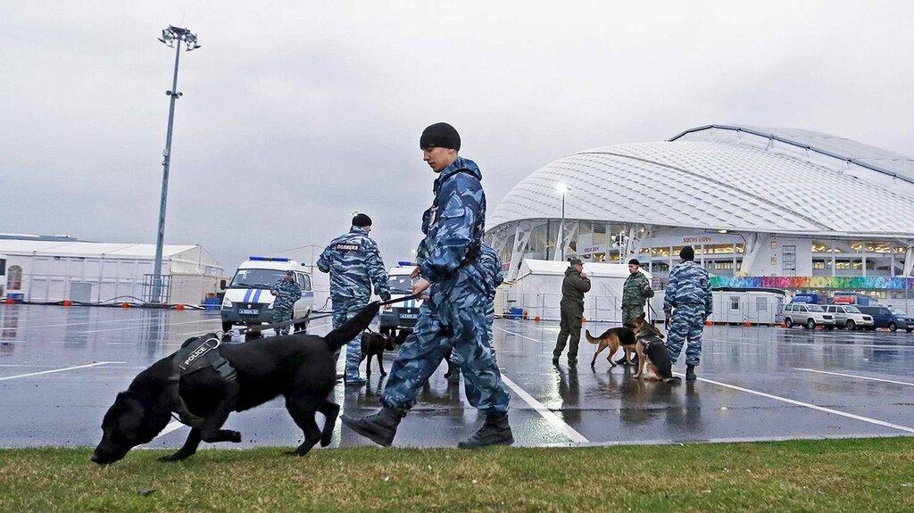 Кинологи со служебными собаками в круглосуточном режиме заняты поиском взрывчатых веществ (6)