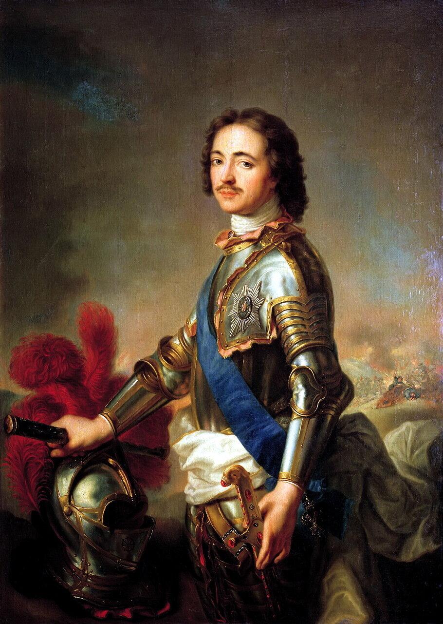 Жан-Марк Натье (1685-1766). Портрет Петра I в рыцарских доспехах