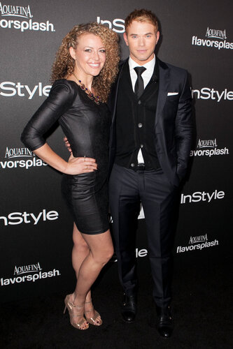 WEST HOLLYWOOD, CA - NOVEMBER 21: Kellan Lutz (R) attends The Hollywood Foreign Press Association (HFPA) And InStyle Celebrates The 2014 Golden Globe Awards Season at Fig & Olive Melrose Place on November 21, 2013 in West Hollywood, California. (Pho
