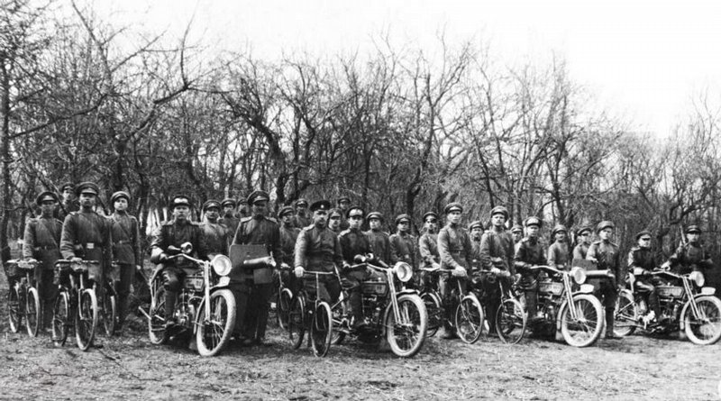 Pedal cycle team. 1916