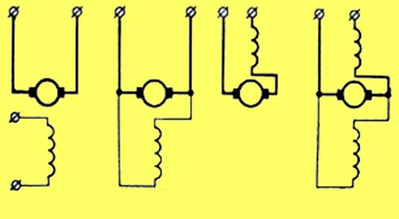 схемы включения двигателя,