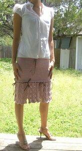 Озорная элегантность: летняя юбка спицами Наши воплощения