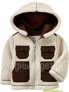 Накладные карманы сыну от мамы - курточки спицами