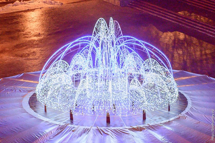 фонтан зимой в сарове