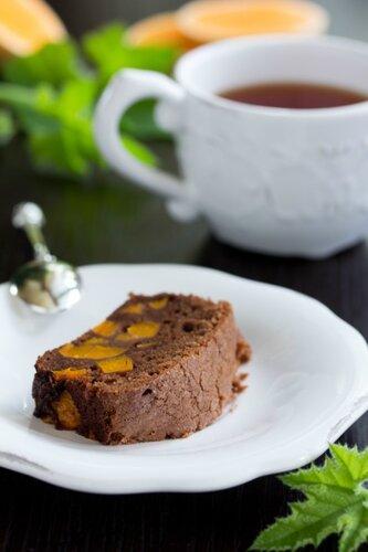 Chocolate cake with pumpkin.
