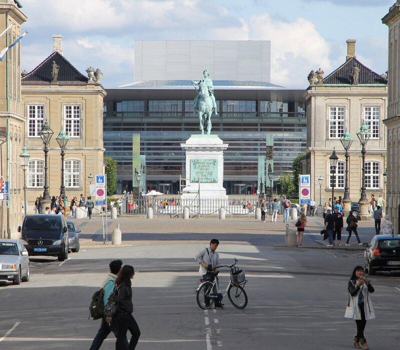 Copenhagen. Amalienborg. Equestrian statue of Frederick V