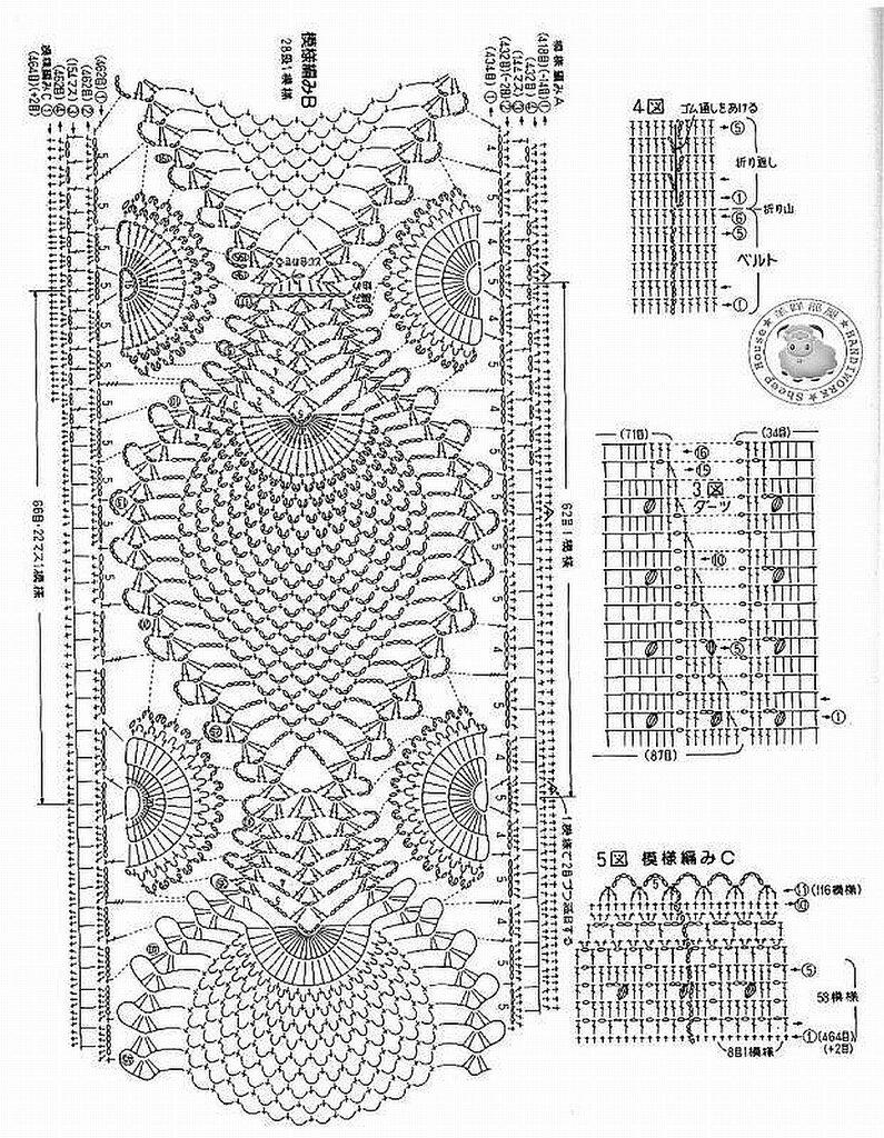 Комбинирование ткани и вязания спицами схемы 51