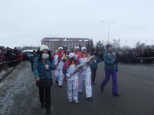 Эстафета Олимпийского огня возле ДК Куйбышева, Аспект