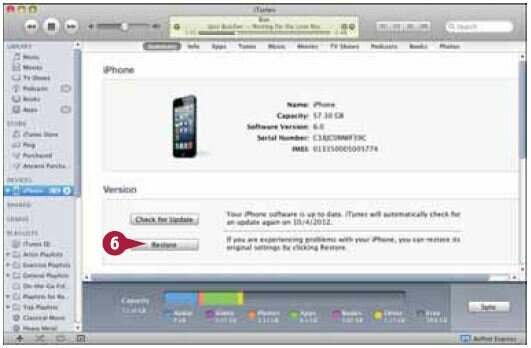 Затем iTunes запросит у вас подтверждение, что вы хотите восстановить заводские настройки