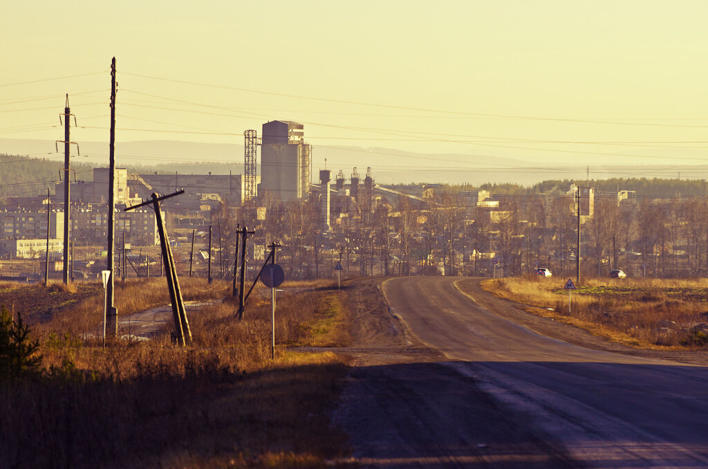 Уральский индустриальный пейзаж. Съемка на зеркальный фотоаппарат Nikon D5100 с телеобъективом Nikon 70-300mm.