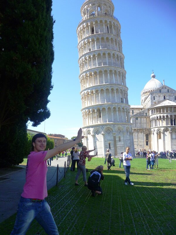 Италия. Пиза. Пизанская падающая башня (Italy. Pisa. Leaning Tower).