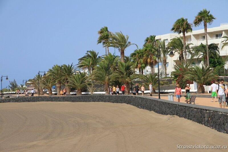 Пляж Матагорда перед Sol Lanzarote