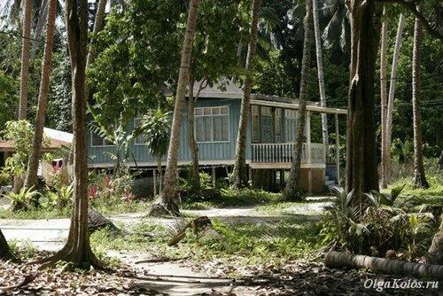 Остров посреди реки рядом с Куала Теренггану