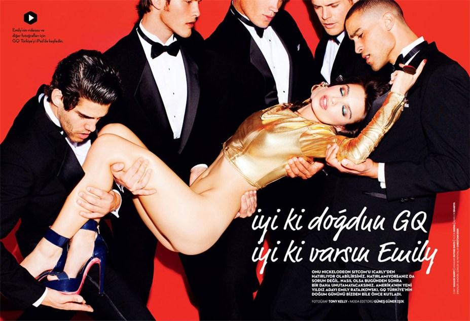 Emily Ratajkowski / Эмили Ратайковски в журнале GQ Turkey, март 2013 / фотограф Tony Kelly