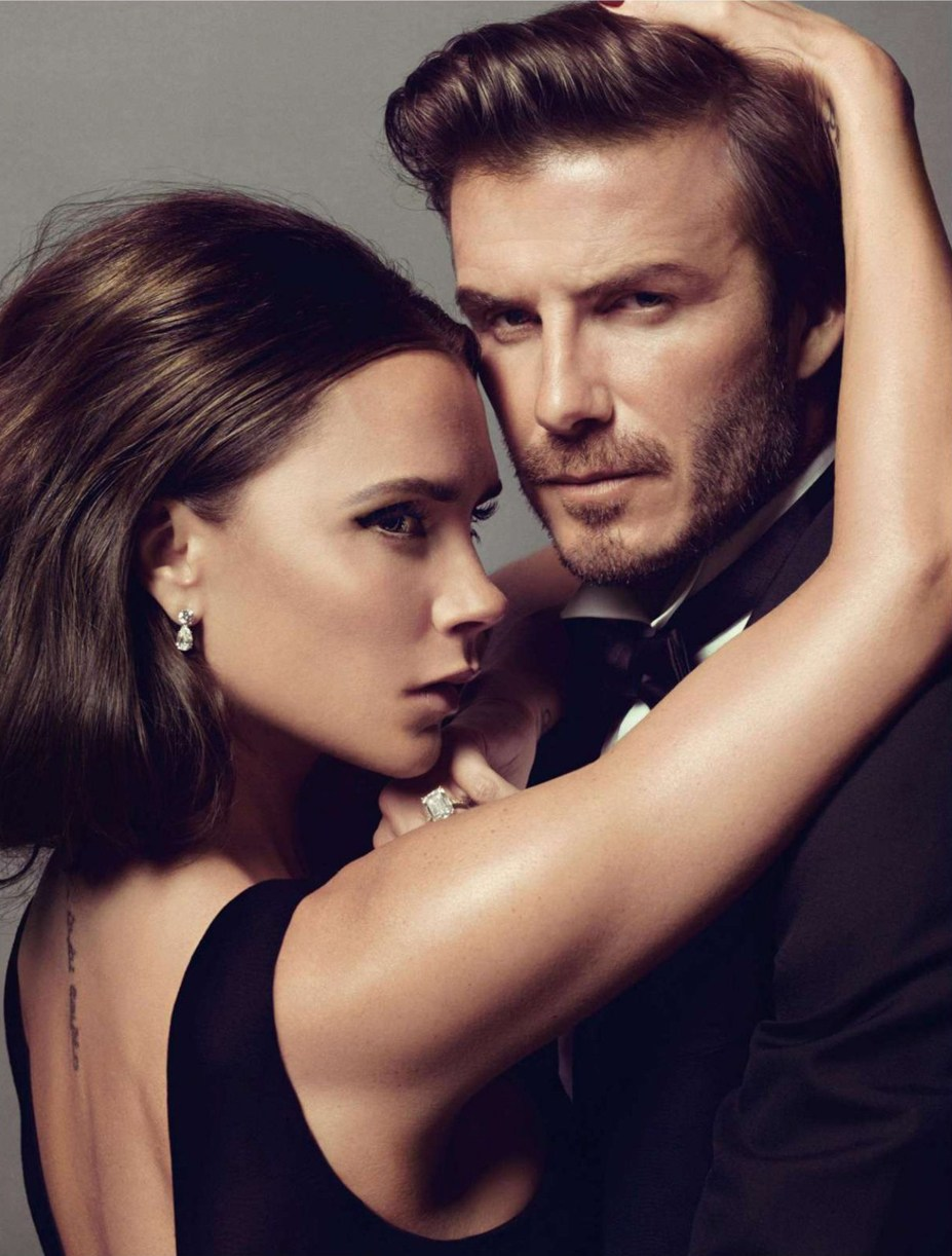 Дэвид и Виктория Бекхэм / Victoria & David Beckham - Love Story by Inez & Vinoodh in Vogue Paris december/january 2013/14